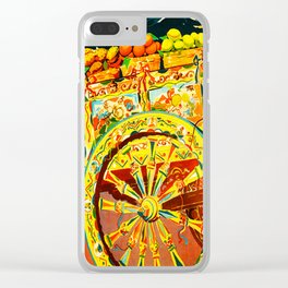 Sicily Italy Vintage Travel Ad Clear iPhone Case