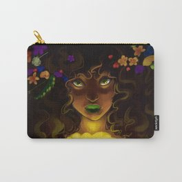 Curly and floral Carry-All Pouch