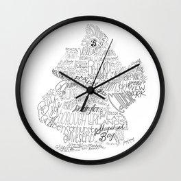 Brooklyn Illustration Wall Clock
