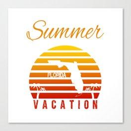 Summer Vacation Florida Miami Beach Holiday Retro Vintage Canvas Print