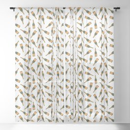 Champagne Bottle Pattern Sheer Curtain