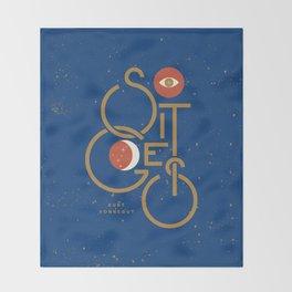 """""""So It Goes"""" — Kurt Vonnegut Throw Blanket"""