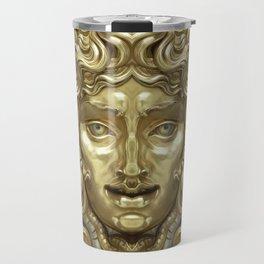 """Ancient Golden and Silver Medusa Myth"" Travel Mug"