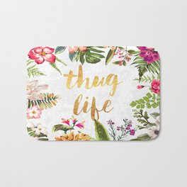 Thug Life - white version Bath Mat