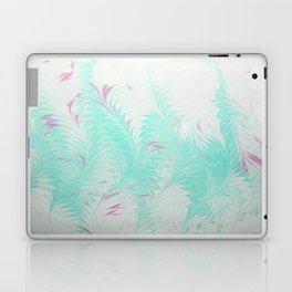 Light Blue Thistle Water Marbling Laptop & iPad Skin