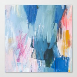 Abstract Neon Painting Canvas Print