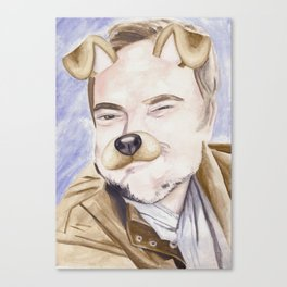 Mark Sheppard, watercolor painting Canvas Print