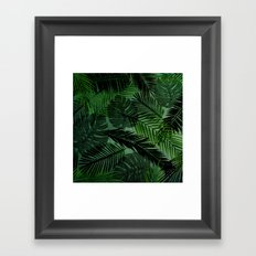 Green Foliage Framed Art Print