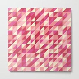 Retro Pink Triangles Metal Print