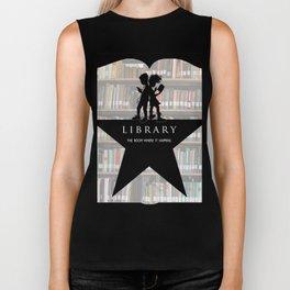 LIBRARY the room where it happens (alternate version) Biker Tank