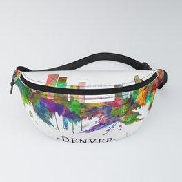 Denver Colorado Skyline Fanny Pack