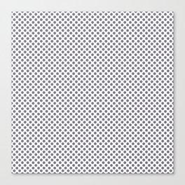 Smokey Topaz Polka Dots Canvas Print