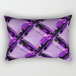 SQUARE CUT PURPLE FEBRUARY AMETHYST GEMS DIAGONAL PATTERN Rectangular Pillow
