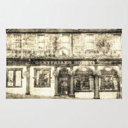 Greyfriars Bobby Pub Edinburgh Vintage Rug