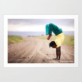 Africa Yoga Project Scorpion Art Print