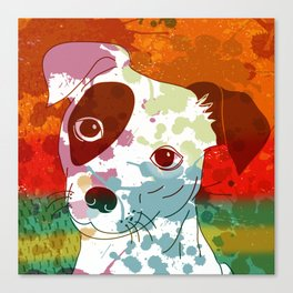Abstract Colorful Jack Russel Terrier  Canvas Print