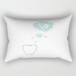 Tooth with Happy Thoughts Rectangular Pillow