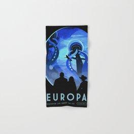 Europa Space Travel Retro Art Hand & Bath Towel