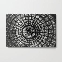 Tiffany Glass Dome Black/White Photography Metal Print