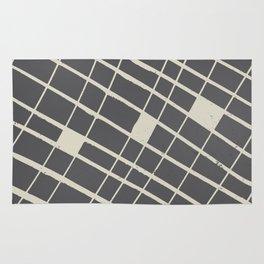 Grid in Black Rug