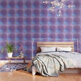 big paisley mandala in light purple Wallpaper