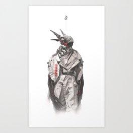 Creepy_Dude_11 Art Print