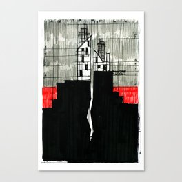 Imaginary architectures #16 Canvas Print