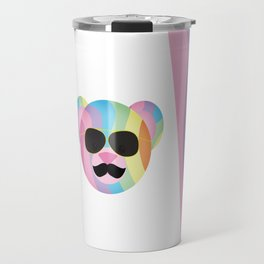 Punk Rainbow Bondage Bear Travel Mug