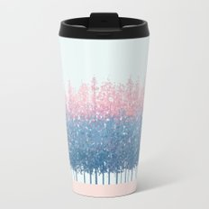 pink and blue trees Travel Mug