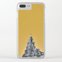 Liverpool Architecture #3 - Yellow Clear iPhone Case