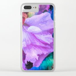 Floral Rainbow Clear iPhone Case