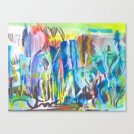 Abstract landscape expressionist Canvas Print