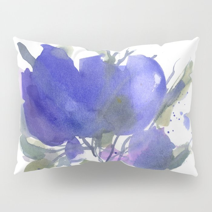 Bluest Blue Bloom Pillow Sham