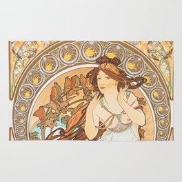 Alphonse Mucha Music Art Nouveau Rug