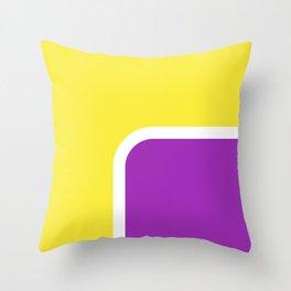 Yellow loves Lila Throw Pillow
