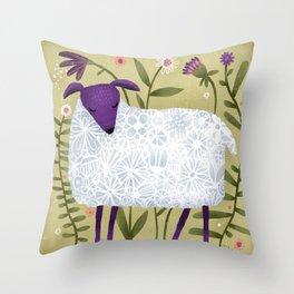 WOOLY POSE Throw Pillow