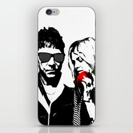 the Kills - Black and White with red Apple iPhone Skin
