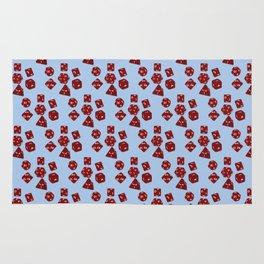 Dice Everywhere - Garnet Red Rug