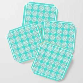 Turquoise Kaleidoscope Coaster