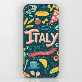 Missing Italy everyday poster iPhone Skin