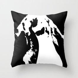 Black & White English Lop Throw Pillow