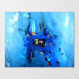 Blue, Black and White Canvas Print