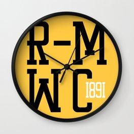 R-MWC (yellow) Wall Clock