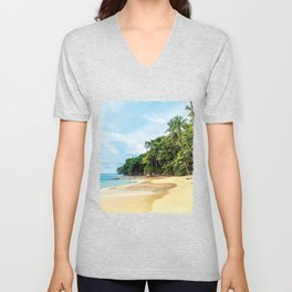 Tropical Beach - Landscape Nature Photography Unisex V-Neck