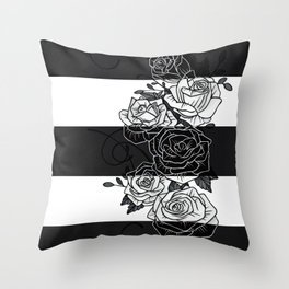 Inverted Roses Throw Pillow