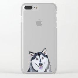 Alaskan Malamute Clear iPhone Case