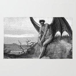 Lucifer, the fallen angel - Gustave Dore Rug