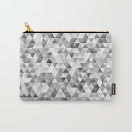 Grey triangle pattern Carry-All Pouch