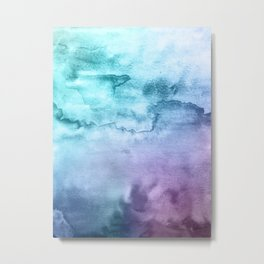 Watercolor Mystery - Blue and Purple Metal Print