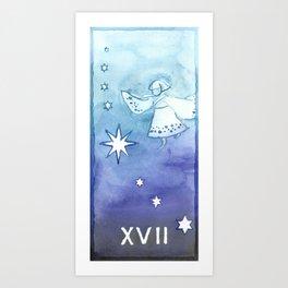 Tarot 17: The Star Art Print